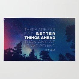 """CS Lewis """"Better Things Ahead"""" Rug"""
