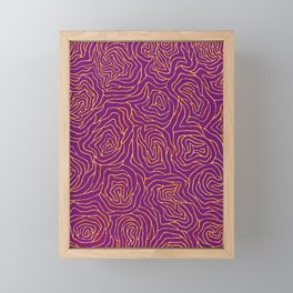 Abstract by Yayoi kusam Framed Mini Art Print