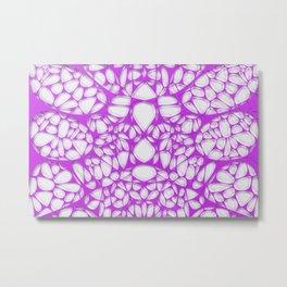 Purple on white, organic abstraction Metal Print