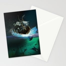 Kraken Attack Stationery Cards