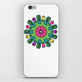 Tulip Delights Mandala iPhone Skin