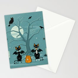 Halloween Hell Cats ©studioxtine Stationery Cards