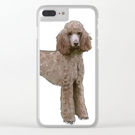 Elegant Poodle Clear iPhone Case