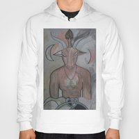 baphomet Hoodies featuring BAPHOMET 2 by Kathead Tarot/David Rivera
