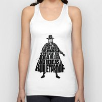vendetta Tank Tops featuring V 4 Vendetta by Ayse Deniz