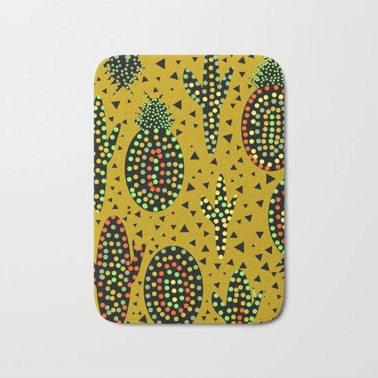 Cacti and pineapples Bath Mat