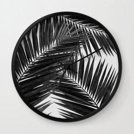 Palm Leaf Black & White III Wall Clock