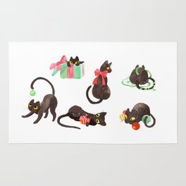 Holiday Cats Rug