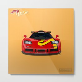 McLaren F1 GTR #10R - Presentation Livery - Front View Metal Print