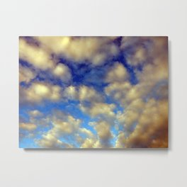 Clouds after rain and thunderstorms in the sky Metal Print