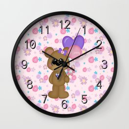 Mommy Bear Loves his Mommy Wall Clock
