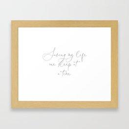 Duvet Cover Saving my life, one sleep at a time. Gift Framed Art Print