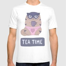 Boggart Tea Time White MEDIUM Mens Fitted Tee