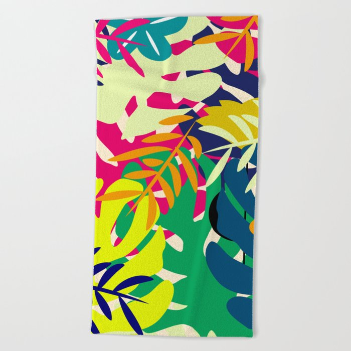 Tropical voyage Beach Towel