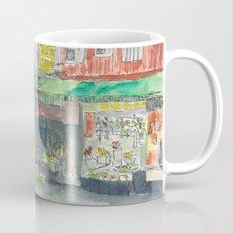 Sketch of Traditional Market, Taipei, Taiwan Coffee Mug