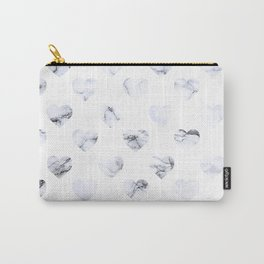 Marble Hearts Carry-All Pouch