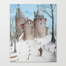 Castell Coch (Red Castle) - Winter Canvas Print