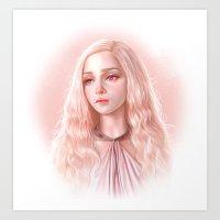 daenerys targaryen Art Prints featuring Daenerys by Charlotte Kim