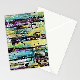 Metallic Abstract Art Stationery Cards