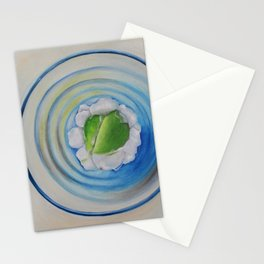 Limeade In A Blue Glass Stationery Cards