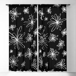 Energy Flowers Reverse Blackout Curtain