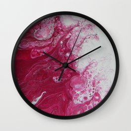 Tentacles, abstract acrylic fluid painting Wall Clock