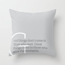 a letter to oneself : great Throw Pillow