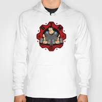 gym Hoodies featuring GoW Gym by Buby87