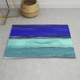 Midnight Waves Seascape Rug