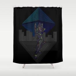 Ramiel's Assault  Shower Curtain