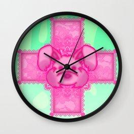 Broken Bones Bunny Wall Clock