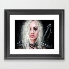 Sword In the Dark: A Gothic Warrior Framed Art Print