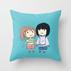 Chihiro & Haku Throw Pillow