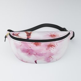 Cherry pink blossoms watercolor painting #2 Fanny Pack