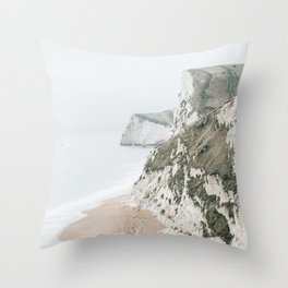 Sea Cliffs Throw Pillow