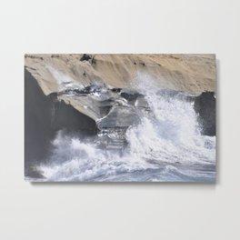 SPLASHING OCEAN WAVE Metal Print