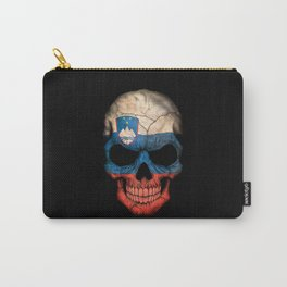 Dark Skull with Flag of Slovenia Carry-All Pouch