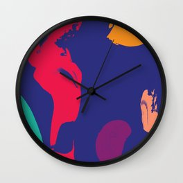 five senses Wall Clock