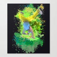 hiphop Canvas Prints featuring HipHop Forever by Frauste