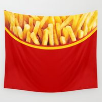 potato Wall Tapestries featuring French Potato chips by DavinciArt