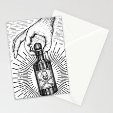Sky god passing on the elixir of death to defeat ones enemies.  Stationery Cards