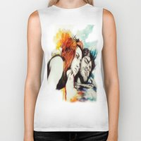eternal sunshine of the spotless mind Biker Tanks featuring Eternal Sunshine by Alycia Plank