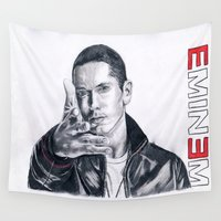 rap Wall Tapestries featuring Rap God! by DrewzDesignz
