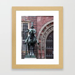 Knight on Horseback, Bremen Framed Art Print