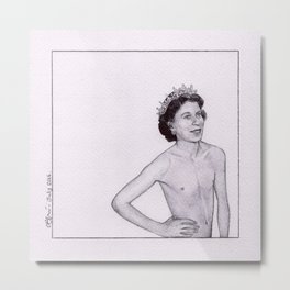 Pride - Ballpoint Pen Illustration Metal Print