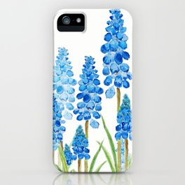 blue grape  hyacinth forest iPhone Case
