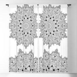 Stars and Stripes - Patriotic Mandala - Black and White - 'Merica! Blackout Curtain