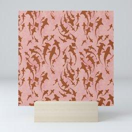 Sharky Pink Mini Art Print