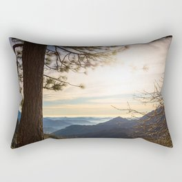 Sierra Nevada Mountains at sunset Rectangular Pillow