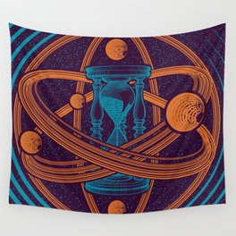 Time Infinity Planet System With Cosmos Sandglass Wall Tapestry